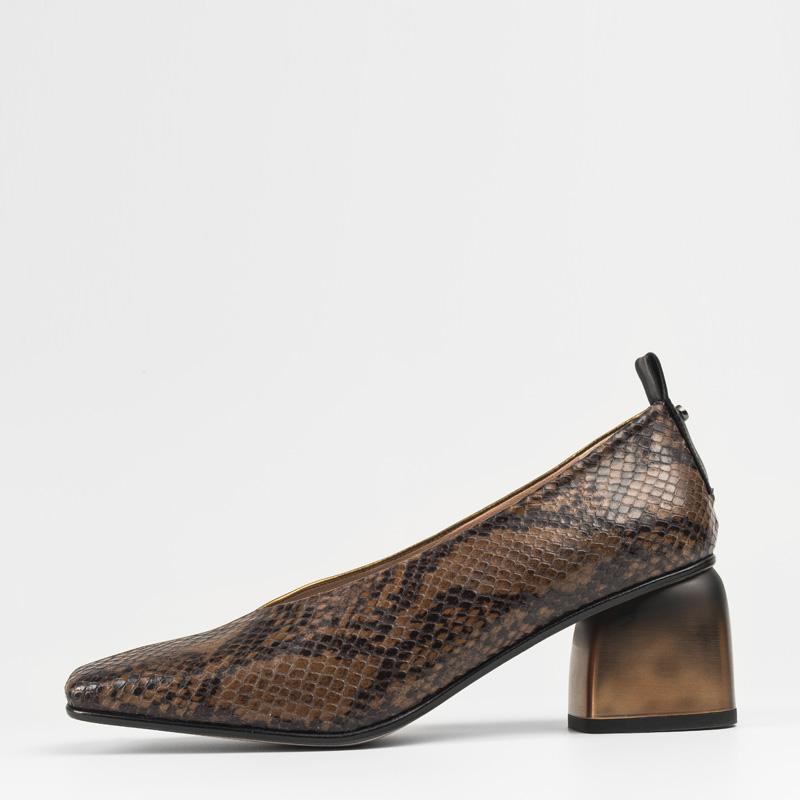 Zapato Serpiente Marron Cobre 01