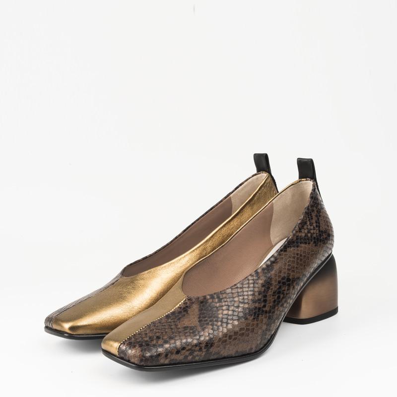 Zapato Serpiente Marron Cobre 34