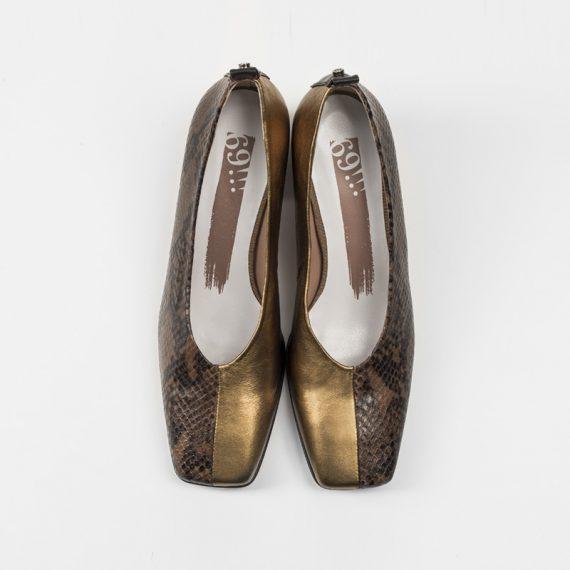 Zapato Serpiente Marron Cobre sup
