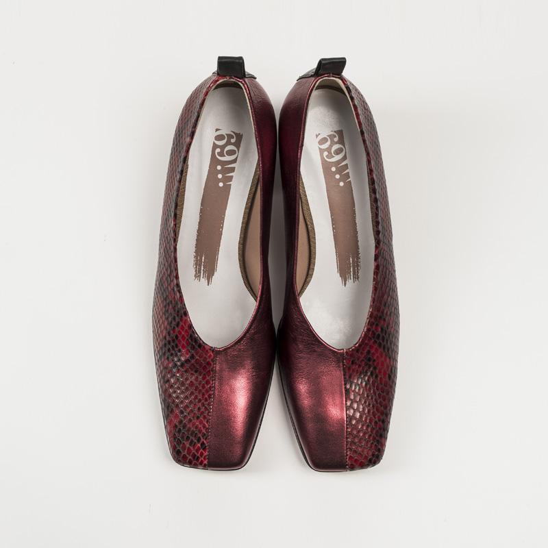 Zapato Serpiente Roja Metalizado Rojo sup